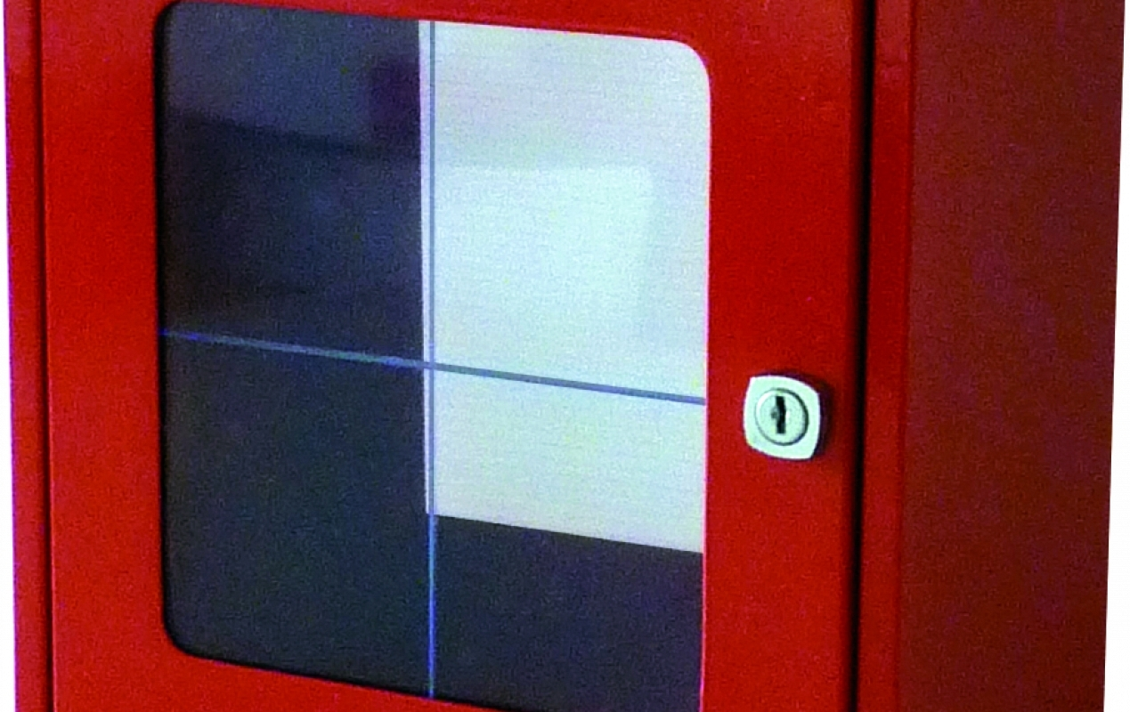 Break Glass Cabinet With Glass Panel W 250 X H 250 X D