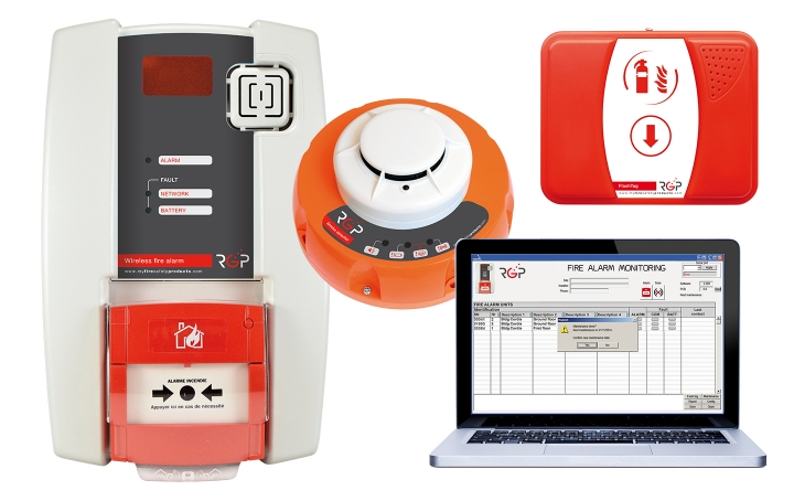 Wireless fire alarm units. Crédits :