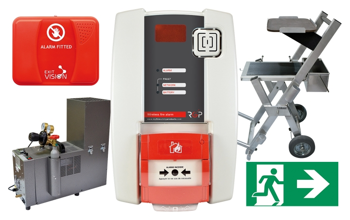 Fire alarm products. Crédits :