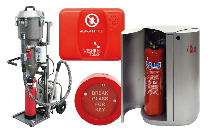 Fire extinguisher servicing equipment. Crédits :