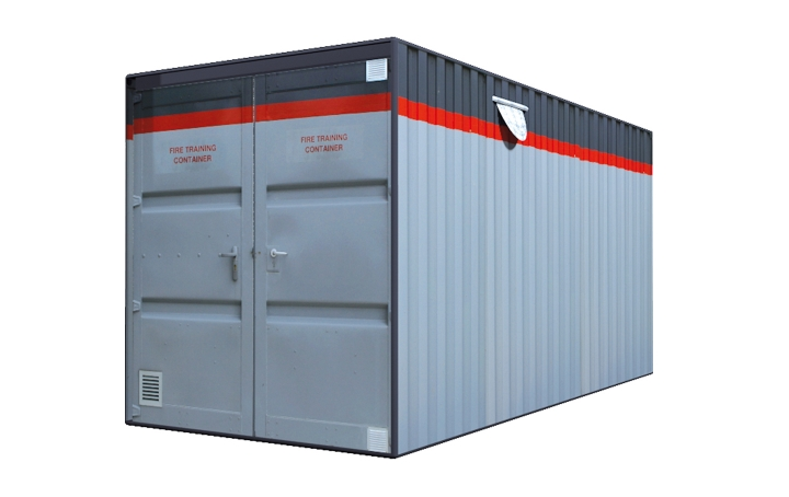 Fire training container. Crédits :