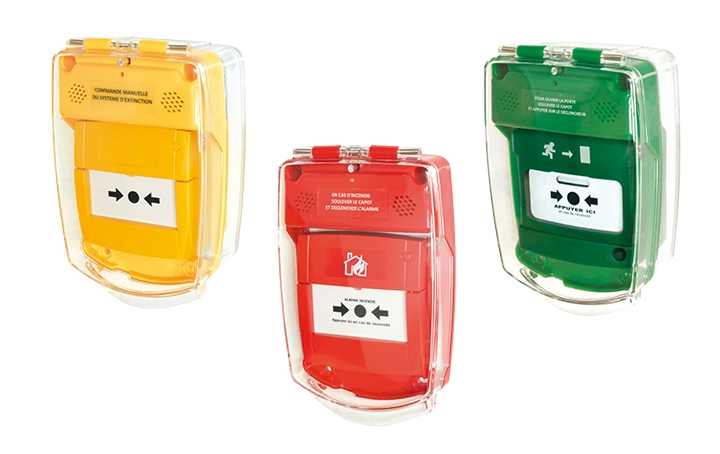 Call point covers. Crédits : ©myfiresafetyproducts.com 2021