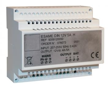Power supply (12 Vdc – 5 A). Crédits :