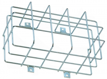 Protection cage for emergency lighting – W.290 x H.160 x D.120 mm. Crédits :