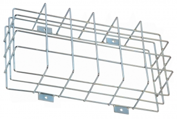 Protection cage for emergency lighting – W.415 x H.210 x D.110 mm. Crédits :