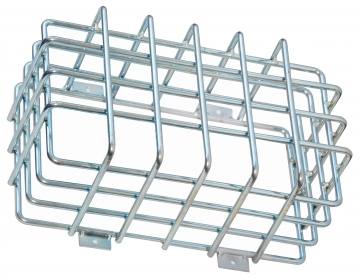 Protection cage for emergency lighting – W.350 x H.200 x D.125 mm. Crédits :