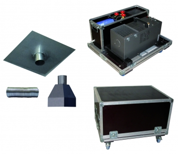Vicount FT kit (fire detector tester and flight case). Crédits :