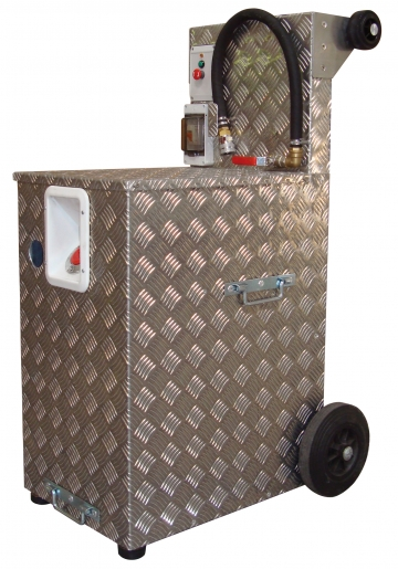 Mobile pump tank for training extinguisher – 40 litres. Crédits :
