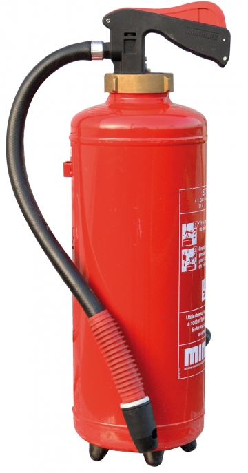 Mixed water/air training extinguisher. Crédits :