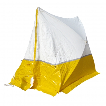 Protection tent – pitched roof – W.1800 x H.1700 x D.1800 mm. Crédits :