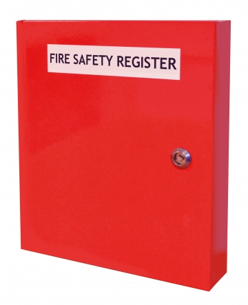 Fire safety document cabinet – W.305 x H.355 x D.62 mm. Crédits :