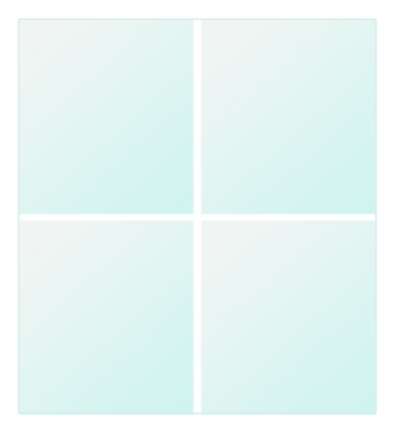 Replacement glass panel for IBVD4545. Crédits :