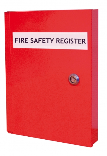 Fire safety document cabinet – W.240 x H.320 x D.50 mm. Crédits :