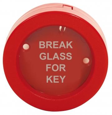 Plastic emergency rounded key box. Crédits :