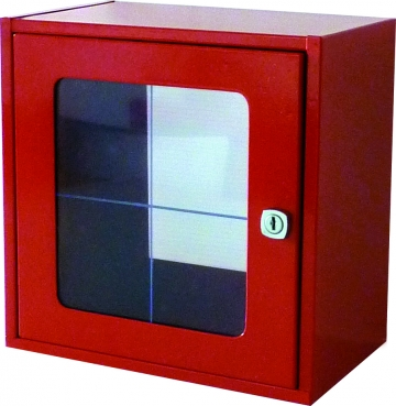 Break glass cabinet with glass panel – W.250 x H.250 x D.150 mm. Crédits :
