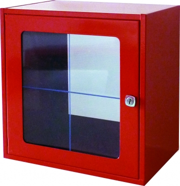 Break glass cabinet with glass panel – W.300 x H.300 x D.200 mm. Crédits :