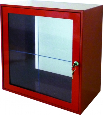 Break glass cabinet with glass panel – W.450 x H.450 x D.250 mm. Crédits :