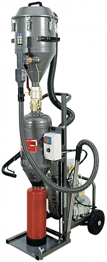PSM Power (Powder suction machine). Crédits :