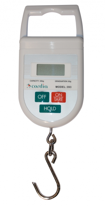 50 kg digital hanging scale. Crédits :