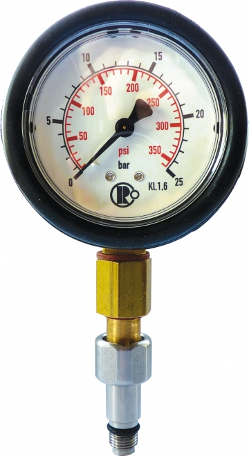 Testing manometer – M10 threaded coupling. Crédits :