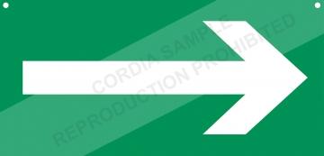 Two-sided PVC sign L.600 x H.300 mm. Crédits :