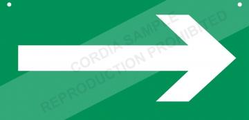 PVC sign L.600 x H.300 mm. Crédits :