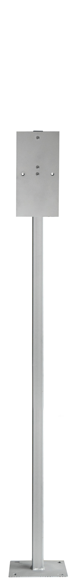 Telescopic vertical pole with mounting plate. Crédits :