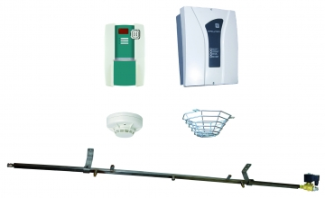 Fire extinguishing set from the ceiling for waste disposal areas. Crédits :