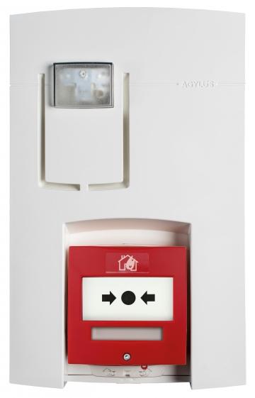 Wireless fire alarm unit - AGYLUS Eloquence. Crédits : ©myfiresafetyproducts.com 2021