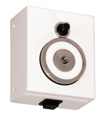 Electromagnetic door holder with position control. Crédits : ©myfiresafetyproducts.com 2021