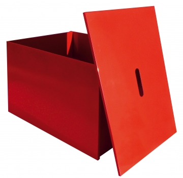 Sheet metal sandbox with cover. Crédits : ©myfiresafetyproducts.com 2021