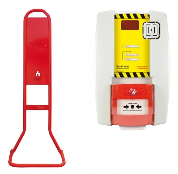Fire extinguisher stand for triggering. Crédits : ©myfiresafetyproducts.com 2021
