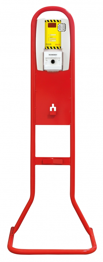 Fire extinguisher stand for rearmament. Crédits : ©myfiresafetyproducts.com 2021